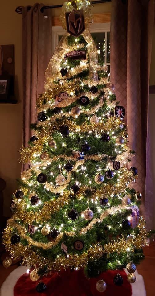 Vegas Golden Knights Christmas Tree