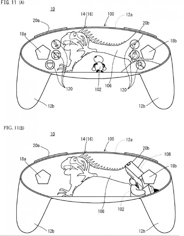 Nintendo patents a free form display in a controller