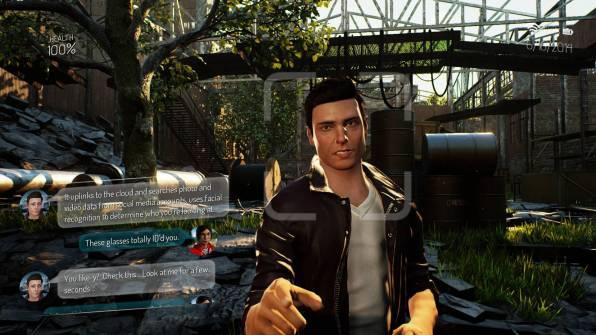 L'interfaccia di gioco è basata su una sorta di occhiali interattivi à la Google Glass, che permettono di tracciare la posizione di ogni nemico su schermo e trasformare i dialoghi fra personaggi in SMS.