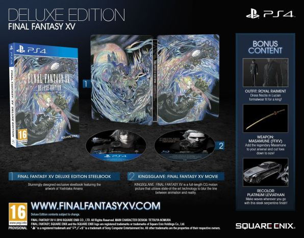 Final Fantasy XV: Deluxe Edition (PS4)