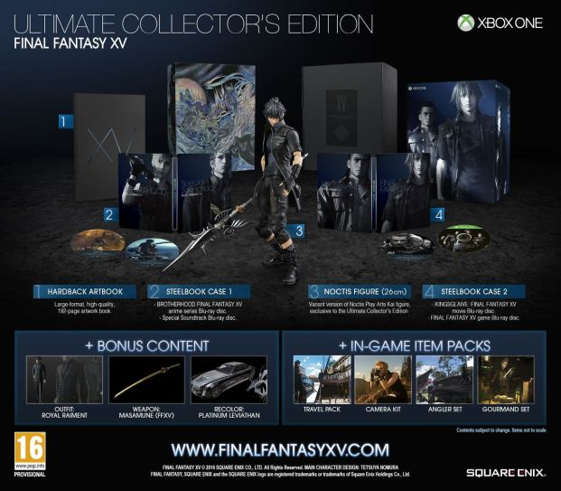 Final Fantasy XV: Ultimate Collector's Edition (Xbox One)