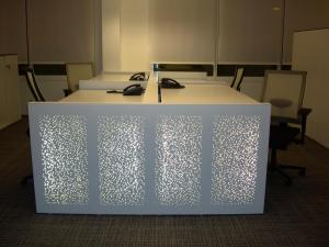 Illuminated Office Table by Vgosh Interior management