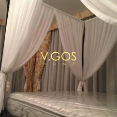 Bed And Sofa Set Sand Four Poster Soft Curtain , Day Night Curtain, ...
