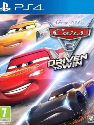 Cars 3 Driven to Win Playstation 4 cover