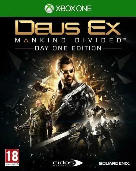 Deus Ex Mankind Divided Xbox One cover