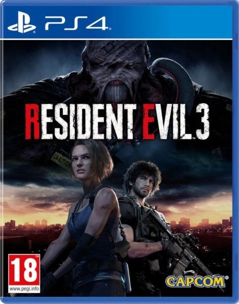 Resident Evil 3 Playstation 4 cover