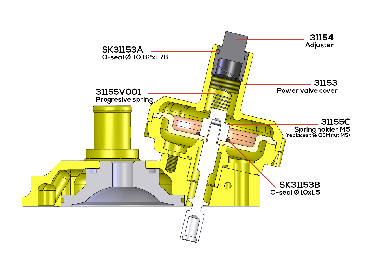 hight resolution of vhm powervalve assembly drawing for ktm 65sx or husqvarna tc65