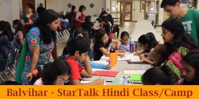 Balvihar - StarTalk Hindi Class/Camp