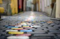 "2. Platz Projektion - Irene Ecker ""Spaziergang"""