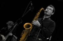 Saxofonist/Klarinettist/Flštenspieler Holger Werner von der Hannah Kšpf Band am 9. MŠrz 2010 bei der Jazzwoche in Burghausen. (Foto: Robert Piffer)