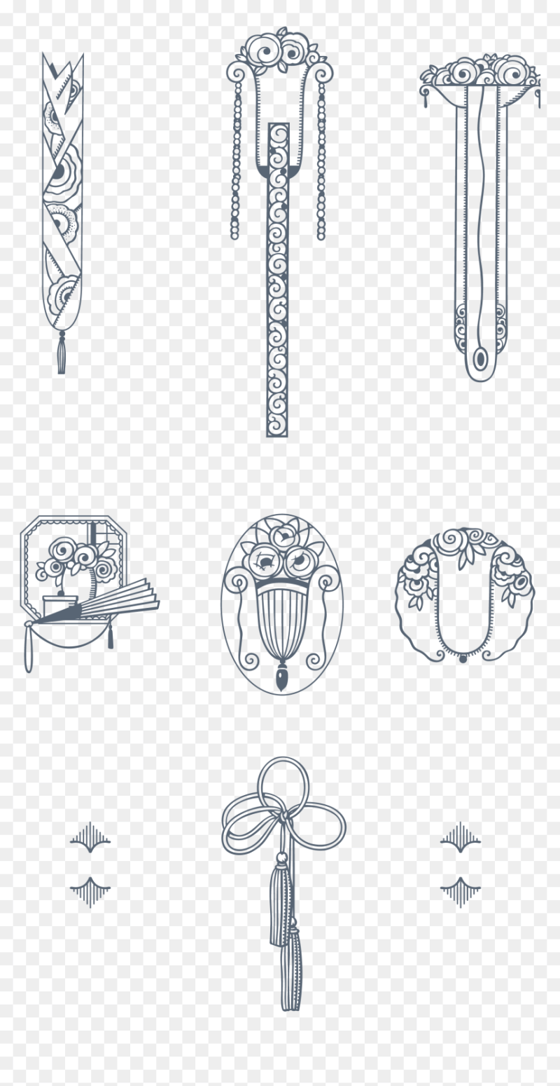Art Deco Decoration Vector Hd Png