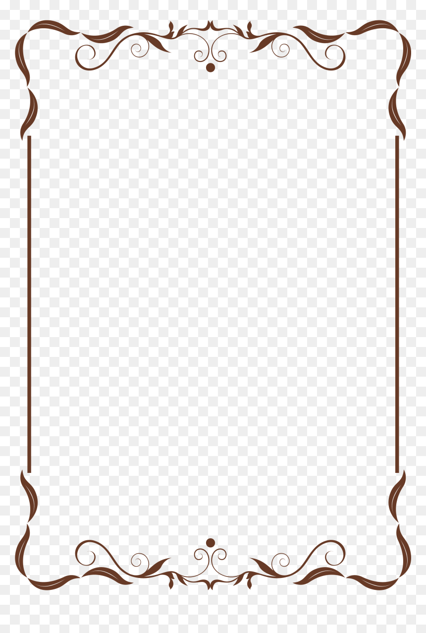 Simple Elegant Classy Border Design Transparent Cartoons Simple Elegant Border Design Hd Png Download Vhv