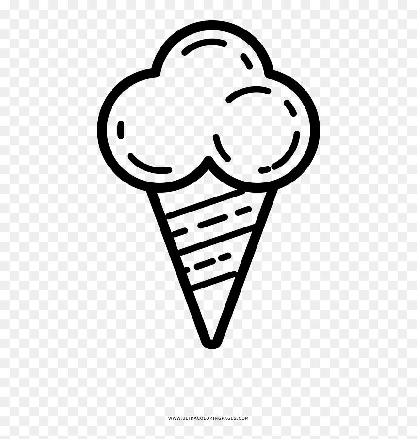 Ice Cream Cone Coloring Page Desenho De Um Sorvete Hd Png Download Vhv