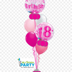 18th Birthday Bubble Bouquet 18th Birthday Balloons Png Transparent Png Vhv