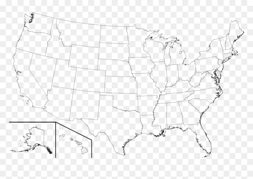 These printable blank us maps are great to use as a base for many geography activities. Free Png Download High Resolution Blank United States High Resolution Printable Us Map Transparent Png Vhv