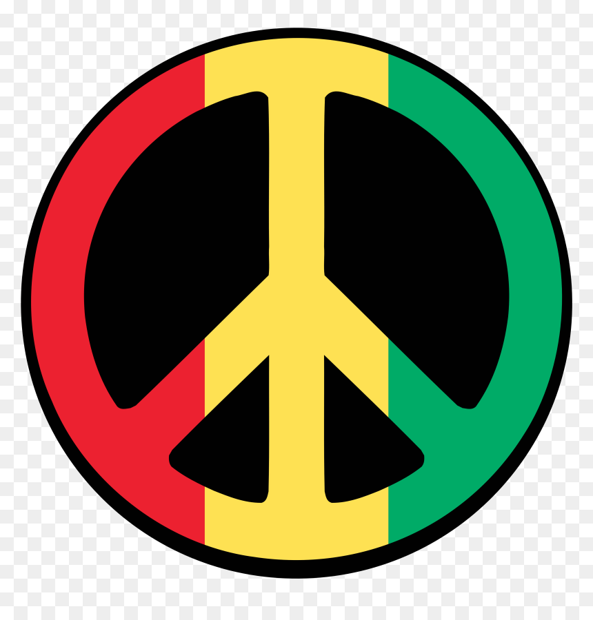 Symbol For Peace Peace Sign Red Yellow Green Hd Png Download Vhv