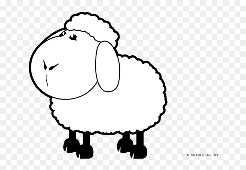 Clipartblack Com Animal Free Sheep Coloring Pages Hd Png Download Vhv