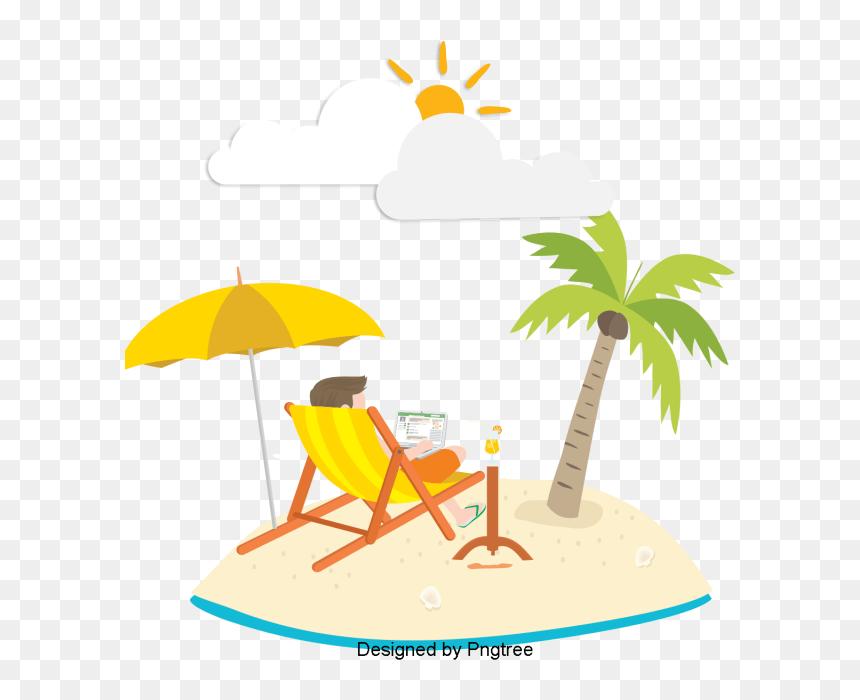 Beautiful Cartoon Lovely Hand Painted Summer Vacation ภาพ ร ม ทะเล สวย ๆ การ ต น Hd Png Download Vhv