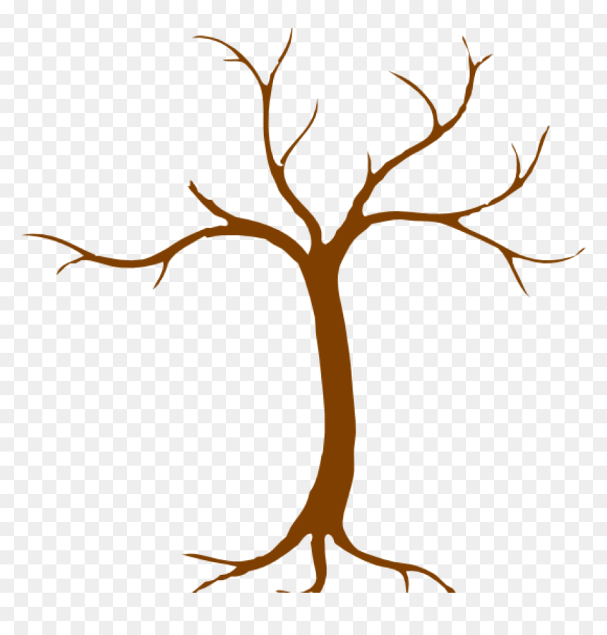 Bare Tree Clip Art Free Bare Tree Trunk Clipart Clipart Easy Dead Tree Drawing Hd Png Download Vhv