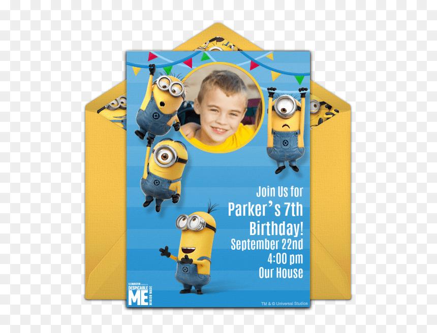 minion birthday invitation card