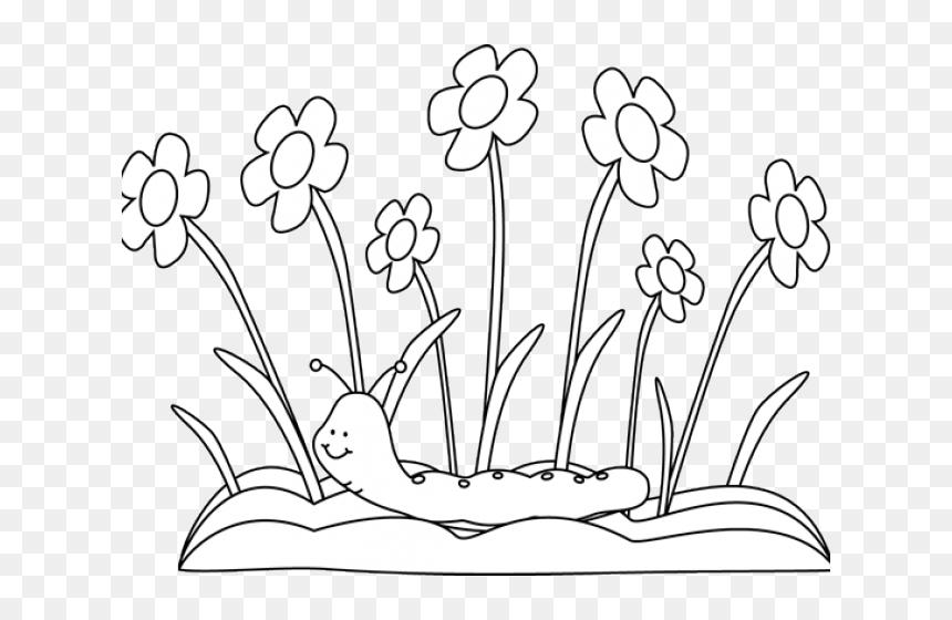 Flower Garden Drawing For Kids Hd Png Download Vhv