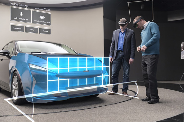 Ford is now designing cars in mixed reality using Microsoft HoloLens