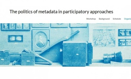 Workshop: The politics of metadata in participatory approaches: Opportunities, practices, and conflicts