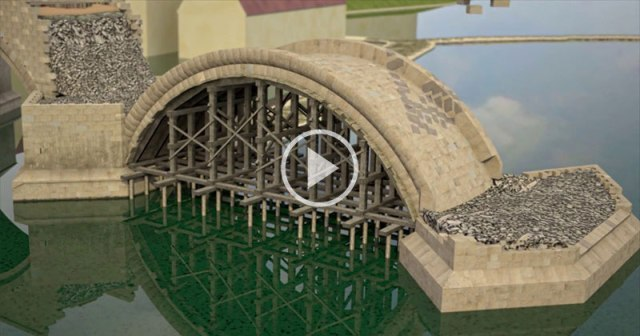 This Animation of How Bridges Were Constructed in 14th Century Prague is Amazing