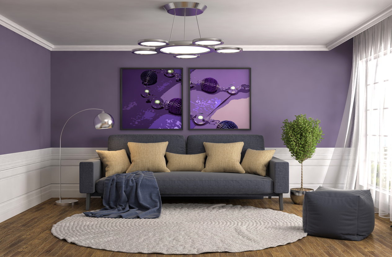 salon mauve violet gris beige ISTOCK decoration  Blogue de Via Capitale