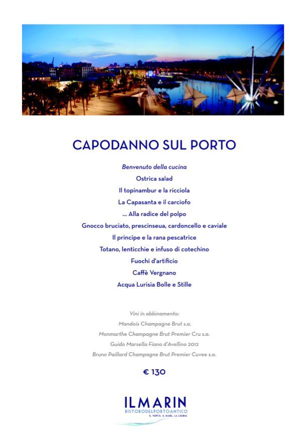 Cenone di Capodanno da Il Marin presso Eataly Genova