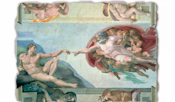 Michelangelo Fresko die Erschaffung Adams