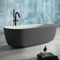 Badewanne modernes Design zweifarbig grau,aus Solid ...
