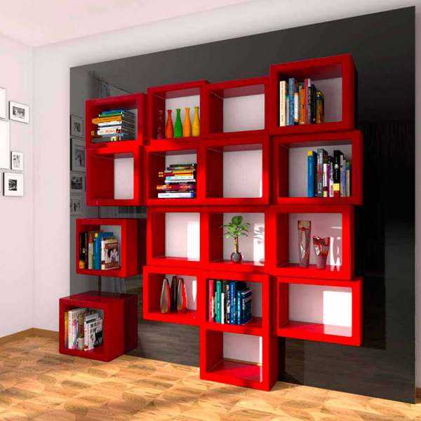 Modern Design Wall-mounted Bookcase Fra011 Handcrafted In