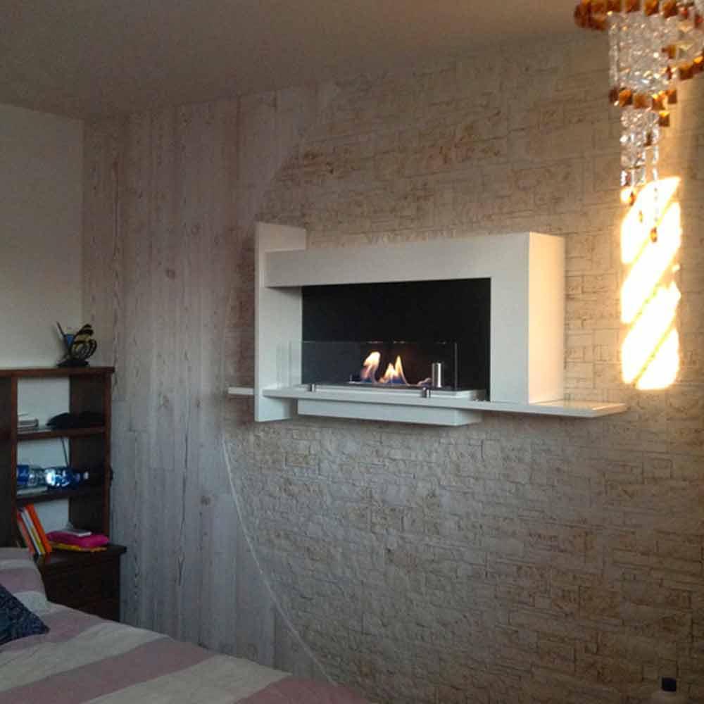 Decorative wall mounted bio ethanol fireplace Baudelaire