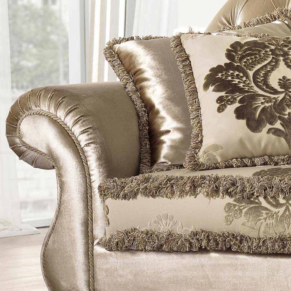 Made in Italy 2 seater fabric sofa classic design Liberty