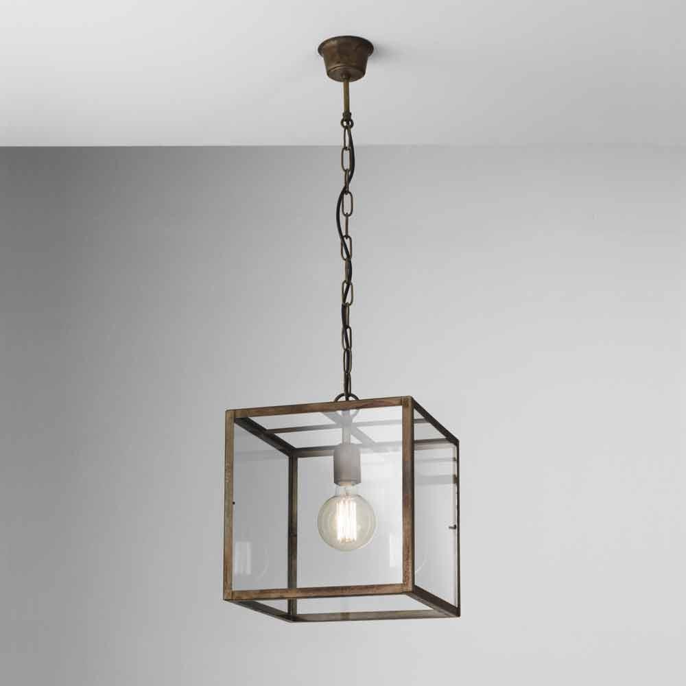 Industrial style iron pendant lamp London Il Fanale