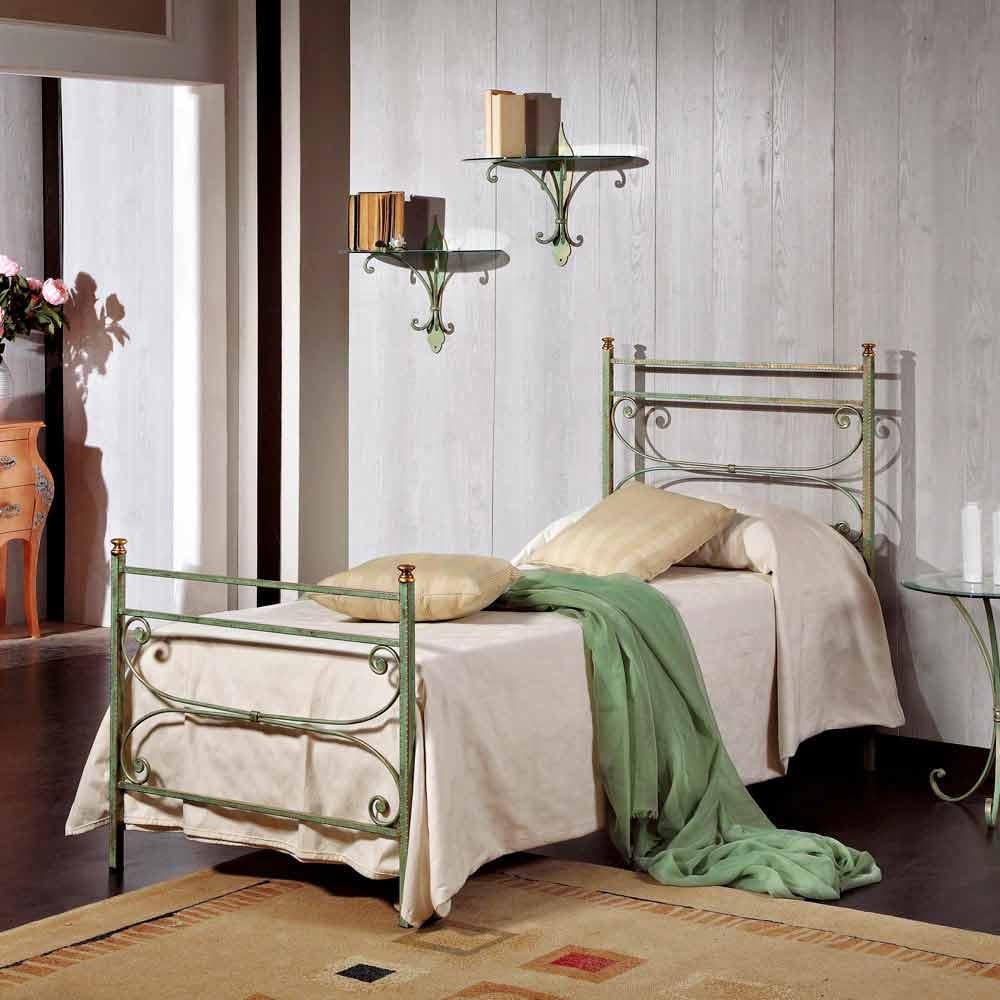 Italian wrought iron single bed Leila classic design