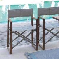 Outdoor director's chair Bridge by Talenti made of mahogany