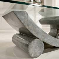 Fossil stone and glass coffee table Madison