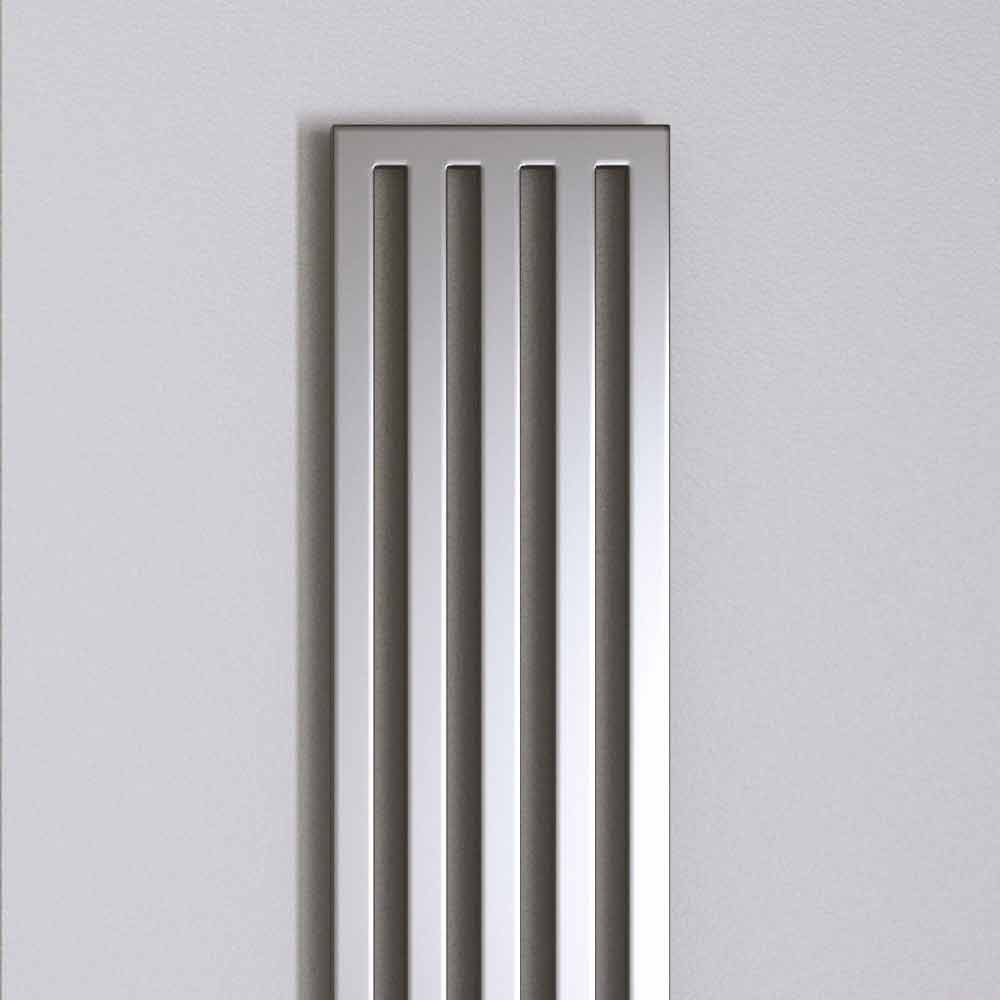 Modern chrome electric radiator New Dress by Scirocco H made in Italy