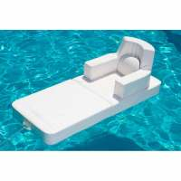 Floating pool lounge chair Trona, white color, made in Italy