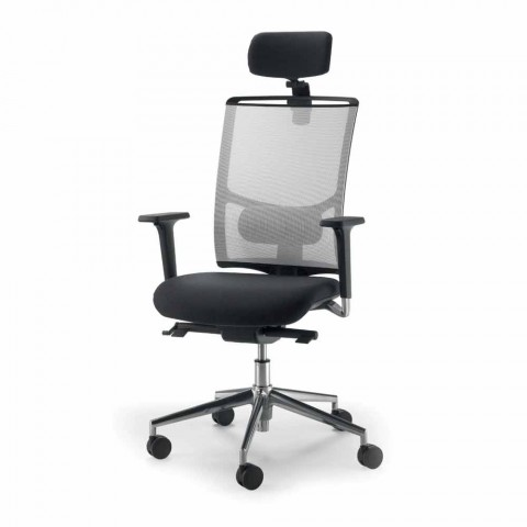 swivel chair operations hanging bubble under 100 mesh task mina with leather details modern design semi directional and operational armchair in beech