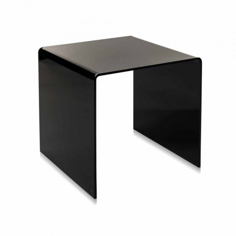 modern design black coffee table 40x40 cm terry small made in italy