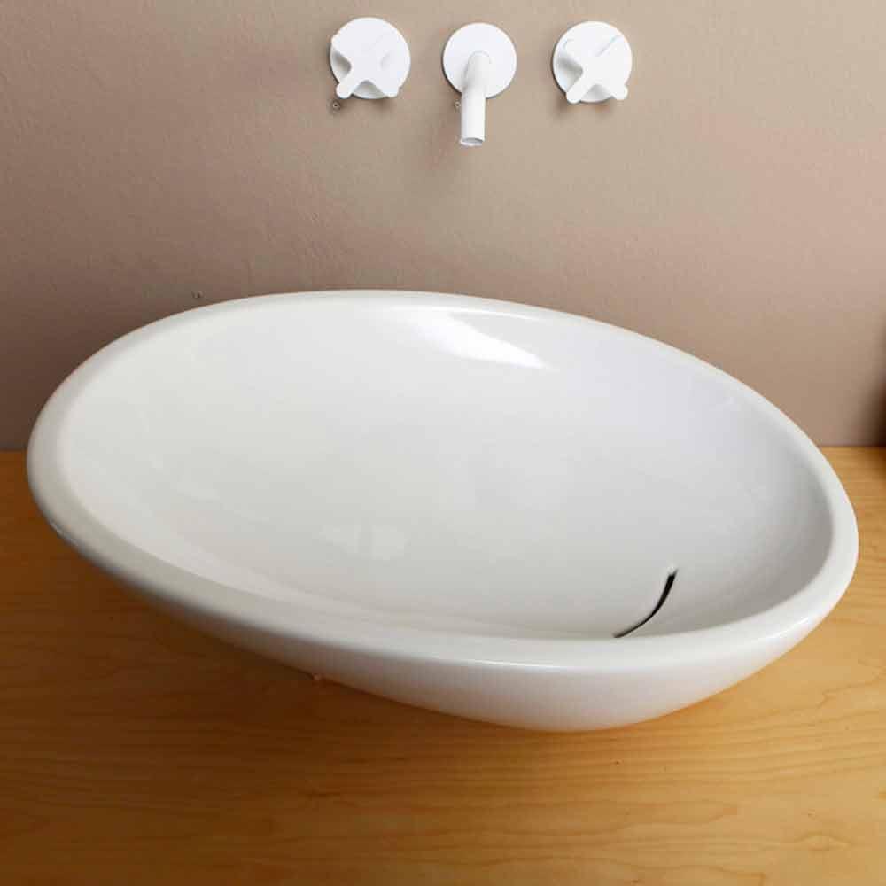 Geneigtes Aufsatzwaschbecken Design Keramik made in