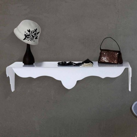 console fixee au mur blanche de design bianca faite en italie