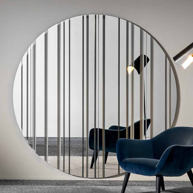 miroir mural design rond diametre 200 cm made in italy coriandolo