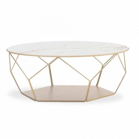 table basse en ceramique et en metal made in italy arbor