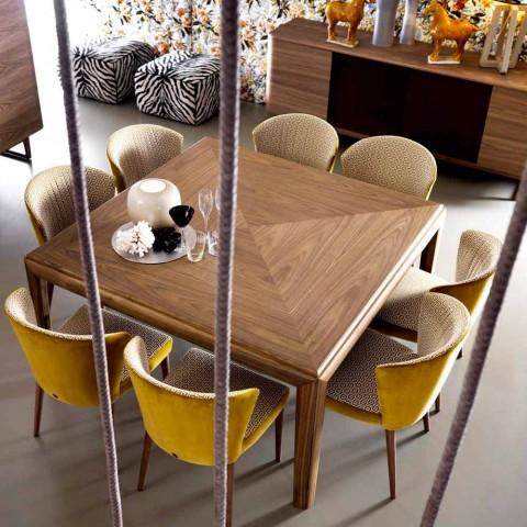 table carree en bois massif grilli york de design faite en italie