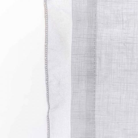 rideau avec gaze de lin et organza blanc de design elegant tapioca