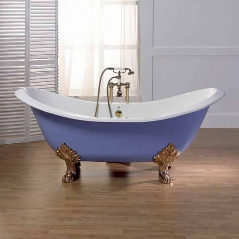 baignoire en fonte emaillee et vernis avec pieds lane